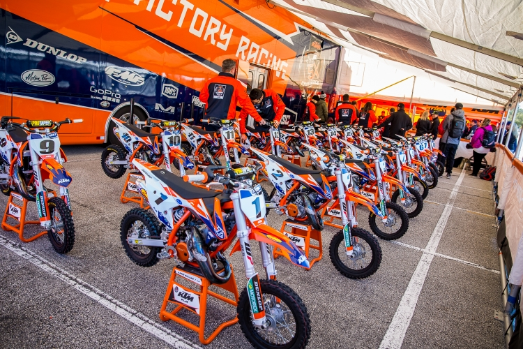 Monster Energy Supercross - Freestyle Photocross - Houston SX - KTM Jr Supercross Bikes